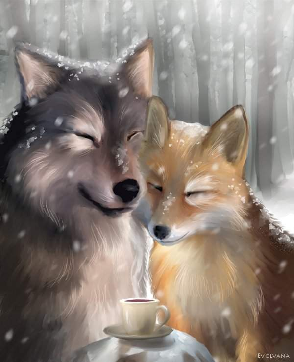 kiriban___the_wolf_and_the_fox_by_evolvana-d346kt5