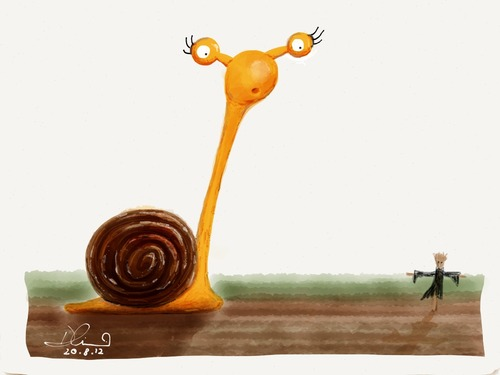 Snail_Cartoon_Sketch_Illustration_Garden_Scare Crow_Field (1)