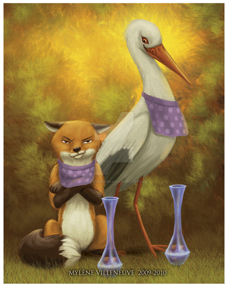 the_fox_and_the_stork_by_princesstigerlili-d3hutei